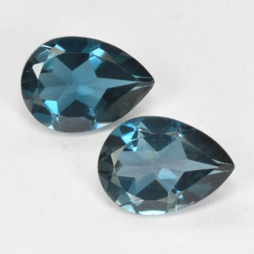 London Blue Topaz Gem - 0.8ct Pear Facet (ID: 517176)