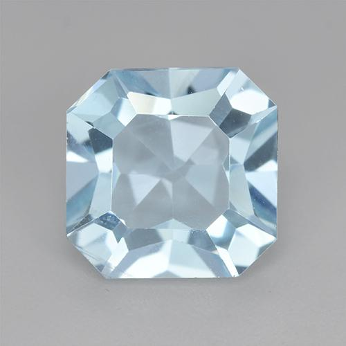 Swiss Blue Topaz Gem - 5.2ct Octagon Step Cut (ID: 520303)