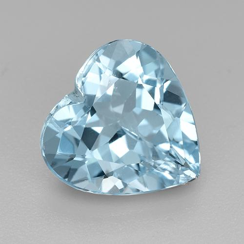 Swiss Blue Topaz Gem - 4.1ct Heart Facet (ID: 521396)
