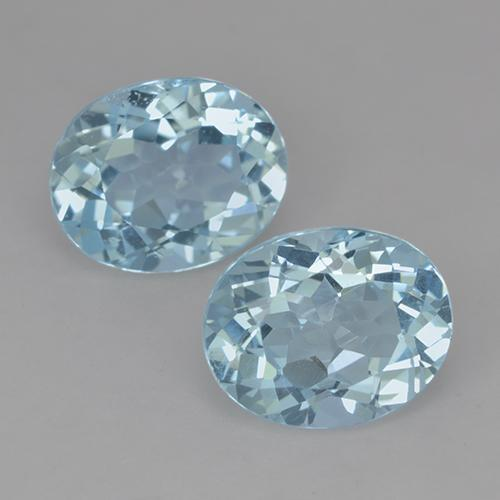 Sky Blue Topaz Gem - 3.4ct Oval Facet (ID: 522062)
