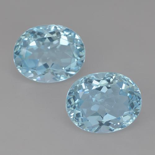 Swiss Blue Topaz Gem - 3.5ct Oval Facet (ID: 522070)