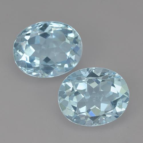 Swiss Blue Topaz Gem - 3.3ct Oval Facet (ID: 522073)