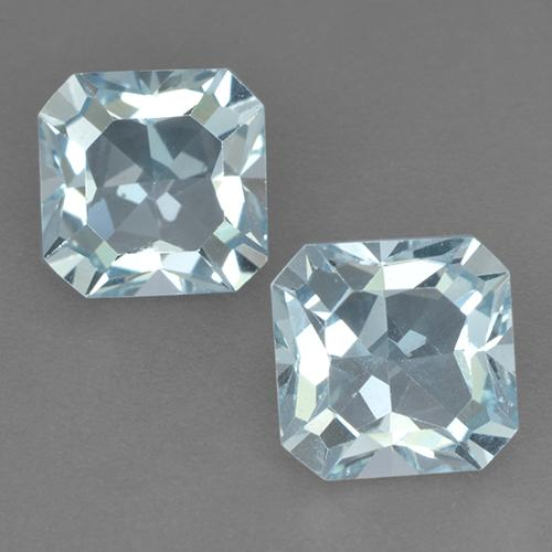 Swiss Blue Topaz Gem - 3.2ct Octagon Step Cut (ID: 522696)