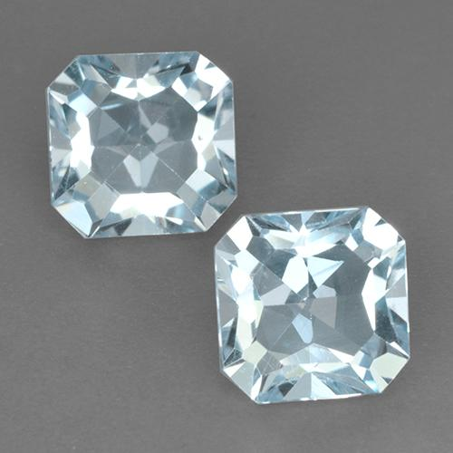 Light Blue Topaz Gem - 2.9ct Octagon Step Cut (ID: 522697)
