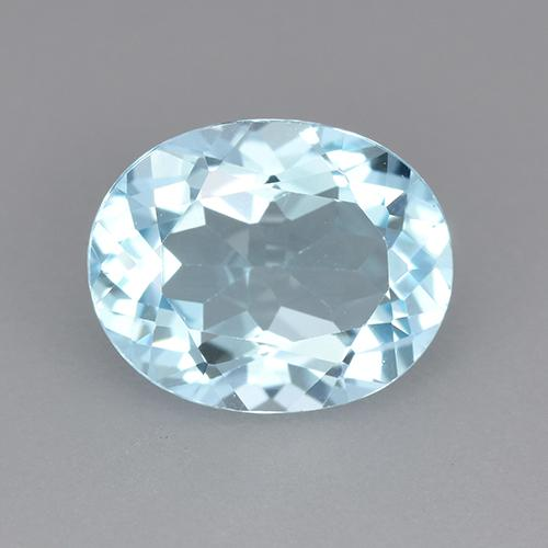 Swiss Blue Topaz Gem - 3.1ct Oval Facet (ID: 522884)