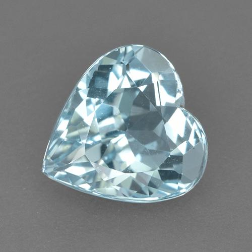Light Greenish Blue Topacio Gema - 4.3ct Forma de corazón (ID: 523454)