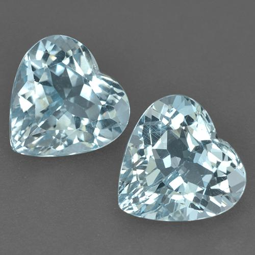 Light Aqua Blue Topaz Gem - 4.2ct Heart Facet (ID: 523456)