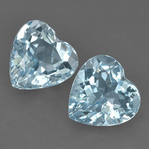 Light Aqua Blue Topaz Gem - 4.6ct Heart Facet (ID: 523458)