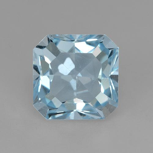 Swiss Blue Topaz Gem - 3.2ct Octagon Step Cut (ID: 523632)