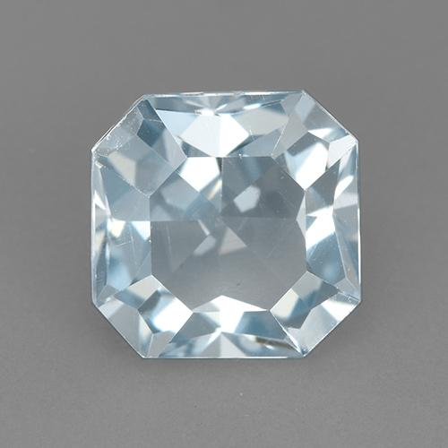 Swiss Blue Topaz Gem - 3.3ct Octagon Step Cut (ID: 523707)
