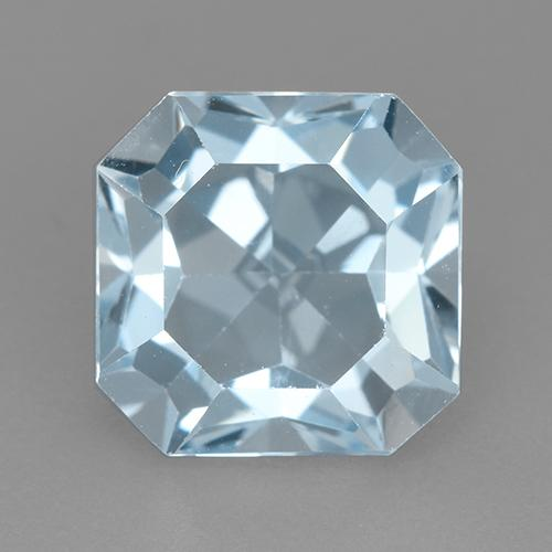 Swiss Blue Topaz Gem - 4.3ct Octagon Step Cut (ID: 523708)
