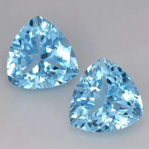 Light Cyan Blue Topaz Gem - 4ct Trillion Facet (ID: 524215)