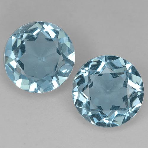 Swiss Blue Topaz Gem - 2.1ct Round Facet (ID: 524533)