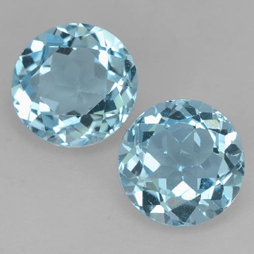 Aqua Blue Topacio Gema - 2.3ct Faceta Redonda (ID: 524536)