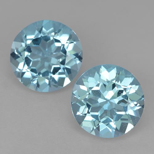 Greenish Blue Topaz Gem - 2.3ct Round Facet (ID: 524540)