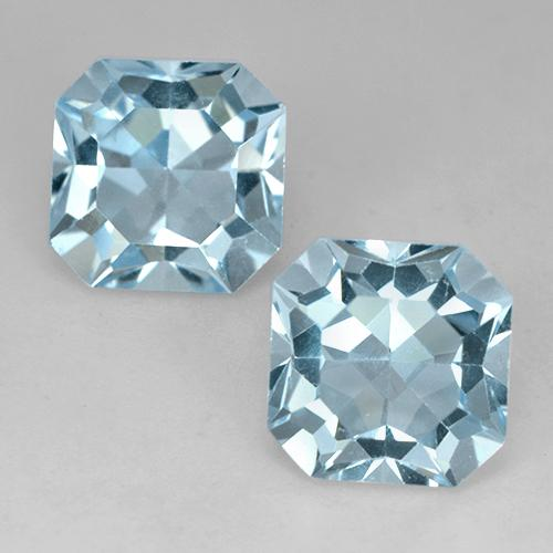 Baby Blue Topaz Gem - 4.4ct Octagon Facet (ID: 524660)