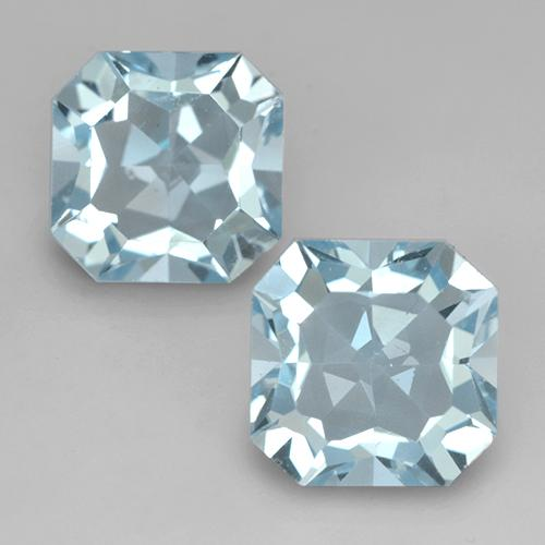 Swiss Blue Topaz Gem - 4.1ct Octagon Facet (ID: 524665)