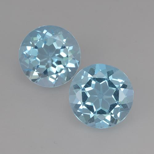 Swiss Blue Topaz Gem - 2.4ct Round Facet (ID: 524894)
