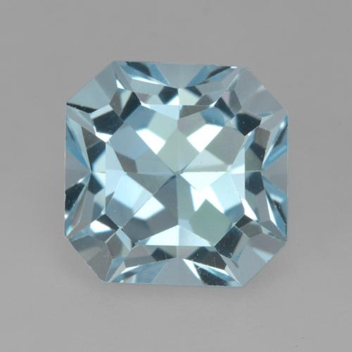 Sky Blue Topaz Gem - 4.4ct Octagon Step Cut (ID: 525086)