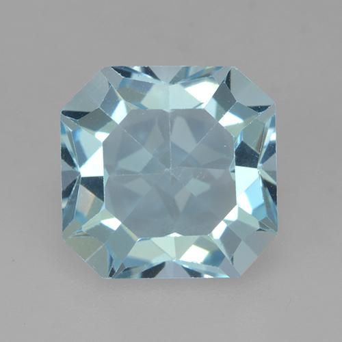 Light Sky Blue Topacio Gema - 4.3ct Corte octagonal (ID: 525087)