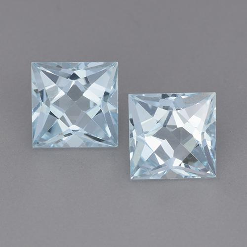Swiss Blue Topaz Gem - 2ct Princess-Cut (ID: 525130)