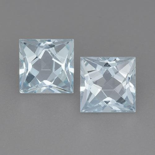 Swiss Blue Topaz Gem - 2.1ct Princess-Cut (ID: 525136)