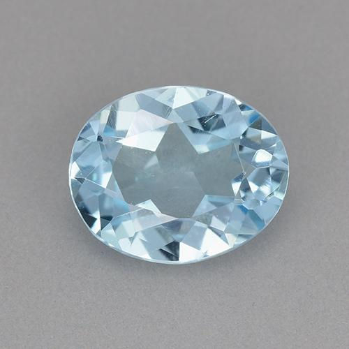 Swiss Blue Topaz Gem - 1.7ct Oval Facet (ID: 525519)