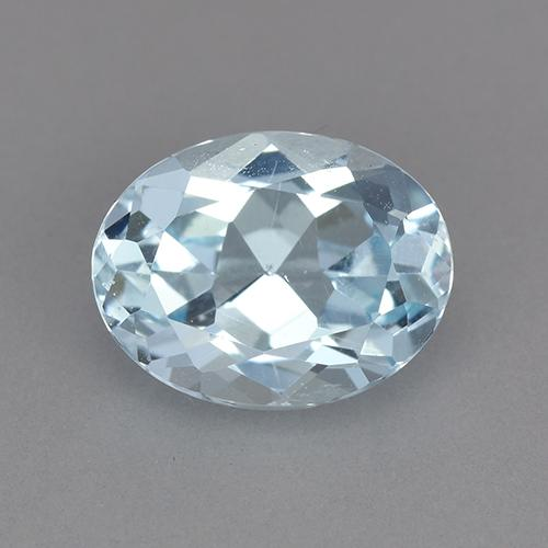 Swiss Blue Topaz Gem - 2.4ct Oval Facet (ID: 525521)