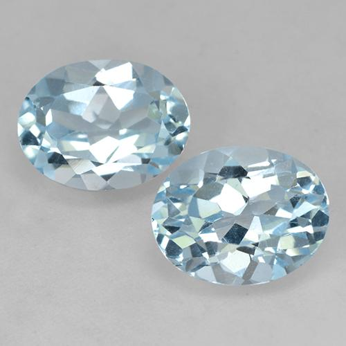 Light Blue Topaz Gem - 2.5ct Oval Facet (ID: 525597)