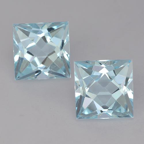 Sky Blue Topaz Gem - 2.1ct Princess-Cut (ID: 525605)