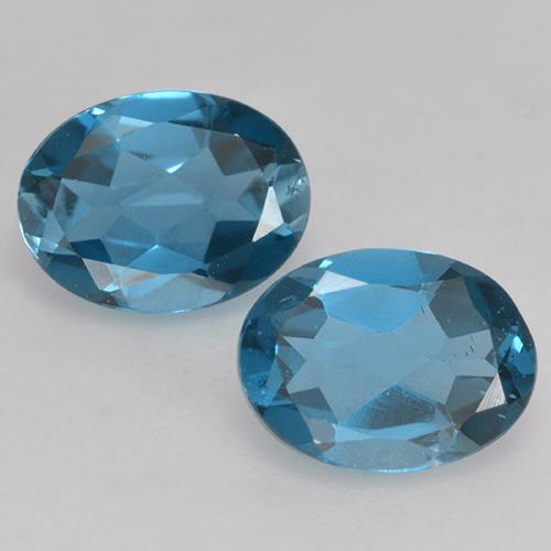 Deep Navy Blue Topaz Gem - 1.5ct Oval Facet (ID: 528714)