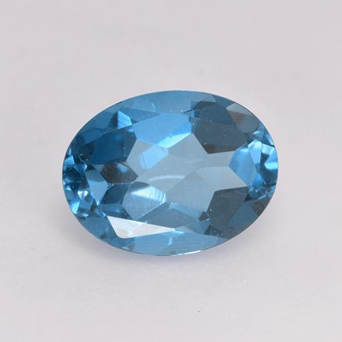 Yale Blue Topaz Gem - 1.7ct Oval Facet (ID: 529120)