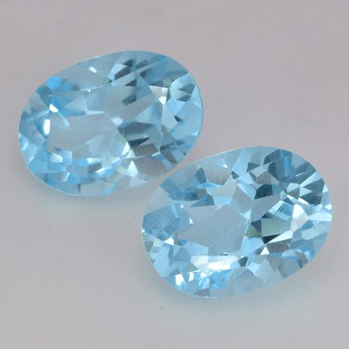 Deep Maya Blue Topaz Gem - 1.1ct Oval Facet (ID: 529432)