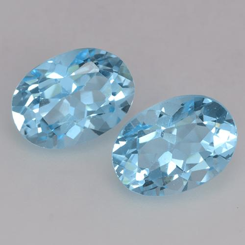 Deep Maya Blue Topaz Gem - 1.1ct Oval Facet (ID: 529433)