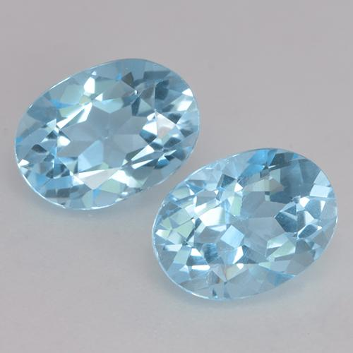 Deep Maya Blue Topaz Gem - 1.2ct Oval Facet (ID: 530131)