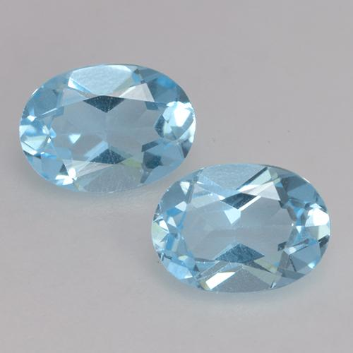 Sky Blue Topaz Gem - 0.9ct Oval Facet (ID: 530133)