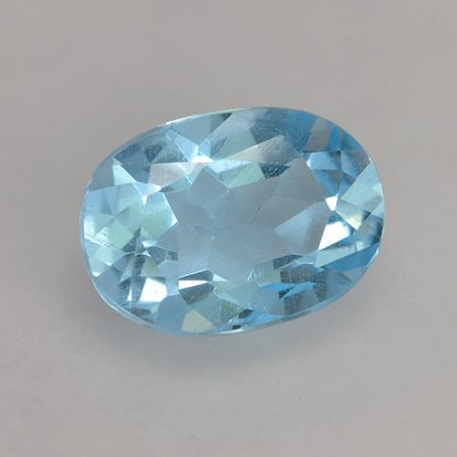 Deep Maya Blue Topaz Gem - 1.1ct Oval Facet (ID: 531360)