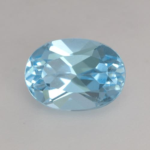 Baby Blue Topaz Gem - 1.2ct Oval Facet (ID: 531365)