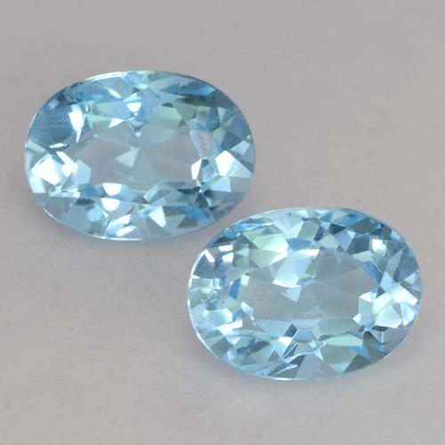 Deep Maya Blue Topaz Gem - 1.2ct Oval Facet (ID: 531503)