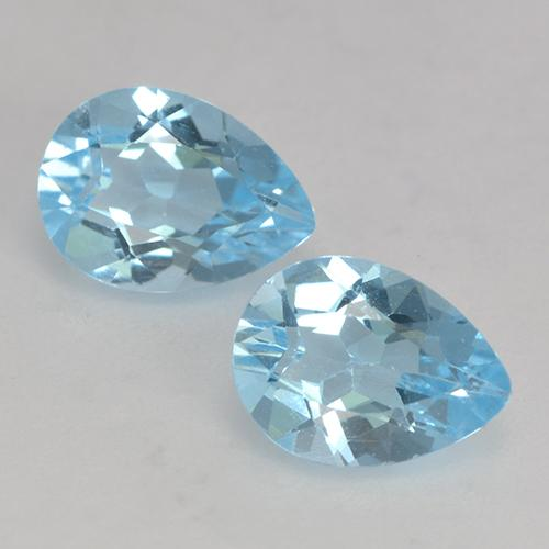 Deep Maya Blue Topaz Gem - 0.9ct Pear Facet (ID: 531894)