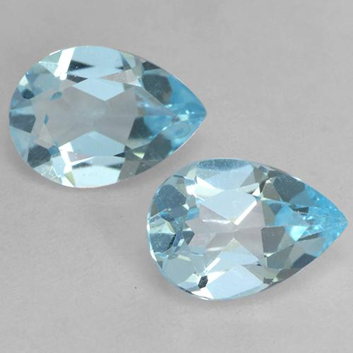 Baby Blue Topaz Gem - 0.7ct Pear Facet (ID: 532031)