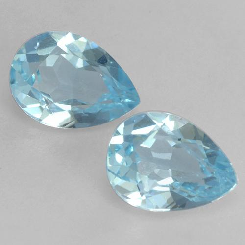 Baby Blue Topaz Gem - 0.8ct Pear Facet (ID: 532034)