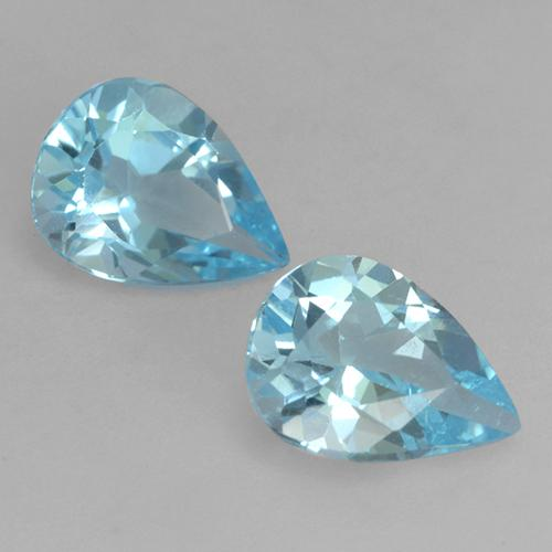 Baby Blue Topaz Gem - 0.8ct Pear Facet (ID: 532036)