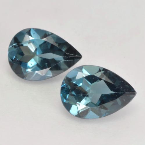 London Blue Topaz Gem - 0.8ct Pear Facet (ID: 535580)