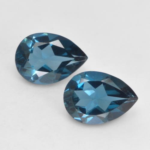 London Blue Topaz Gem - 0.7ct Pear Facet (ID: 535746)