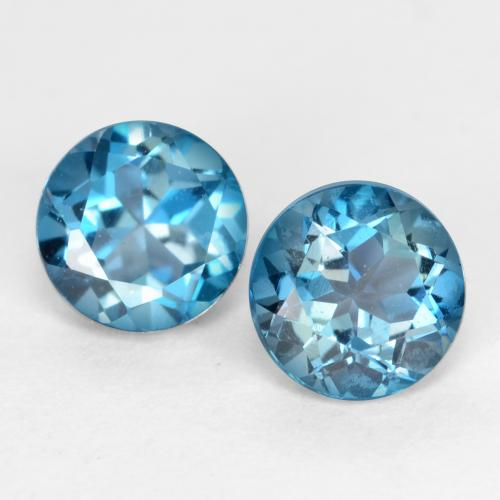 Blue Topaz Gem - 0.7ct Round Facet (ID: 538961)