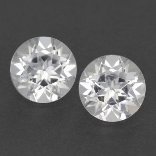 White Topaz Gem - 0.3ct Round Facet (ID: 539820)