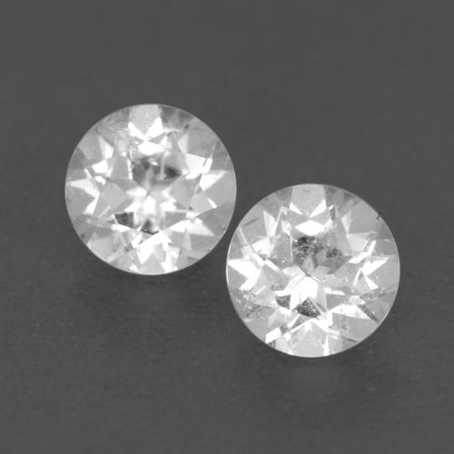 White Topaz Gem - 0.3ct Round Facet (ID: 539906)
