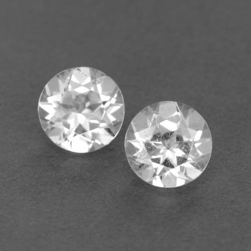 White Topaz Gem - 0.3ct Round Facet (ID: 540010)