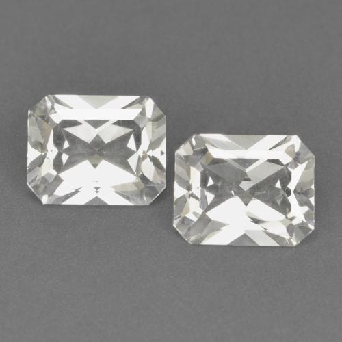 White Topaz Gem - 3.6ct Octagon / Scissor Cut (ID: 552931)